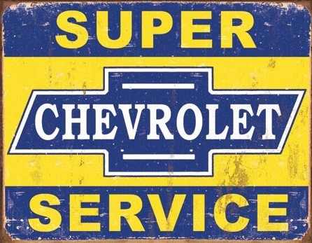 Placa de metal Super Chevy Service