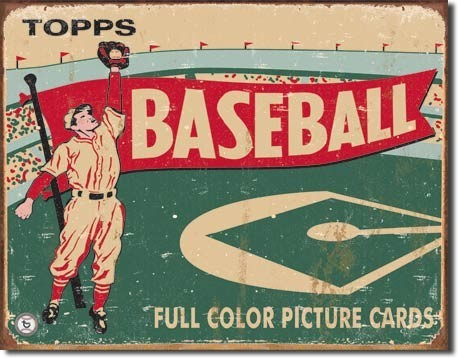 Placa de metal TOPPS - 1954 baseball