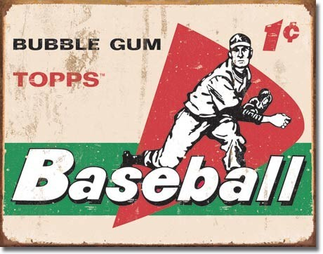 Placa de metal TOPPS - 1958 baseball cards