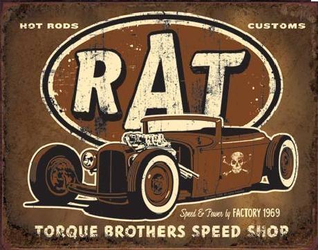 Placa metálica TORQUE - Rat Rod