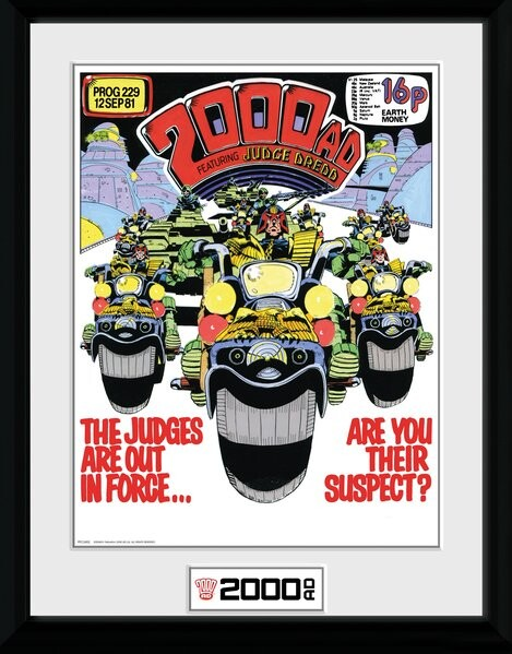 Framed poster 2000 AD - Out in Force