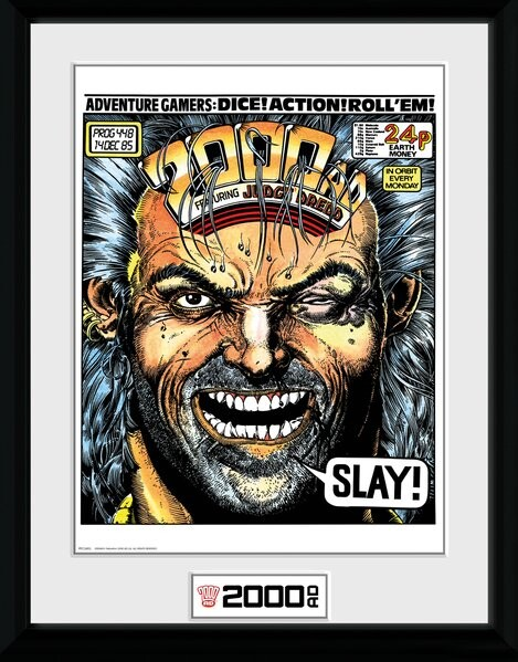 Framed poster 2000 AD - Slay