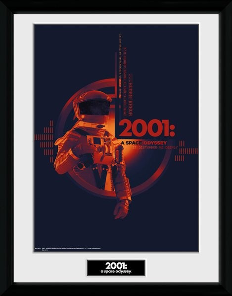 Framed poster 2001 A Space Odyssey - Graphic