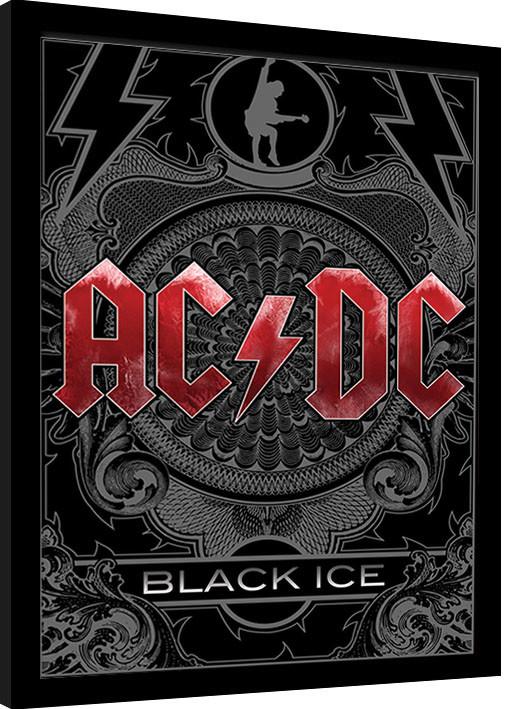 Framed poster AC/DC - Black Ice