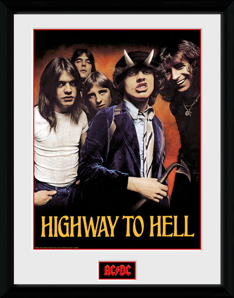 Framed poster AC/DC - Highway to Hell