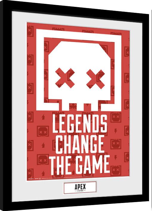 Framed poster Apex Legends - Legends Change The Game