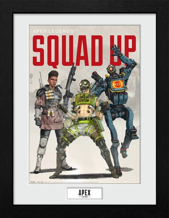 Framed poster Apex Legends - Squad Up