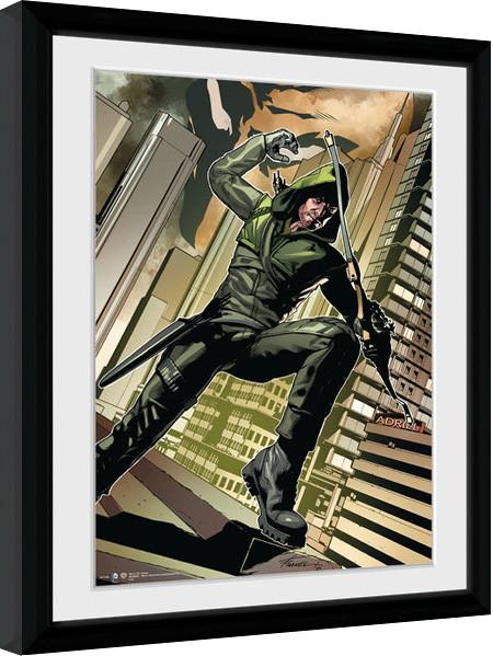 Arrow - Cover Green Framed poster