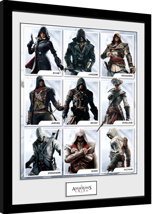 Assassins Creed Compilation Characters Framed Poster Buy At Europosters