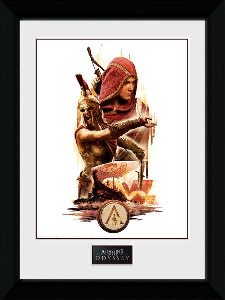 Framed poster Assassins Creed Odyssey - Collage
