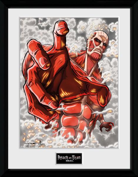 Attack On Titan Season 2 - Colossus Titan Framed poster