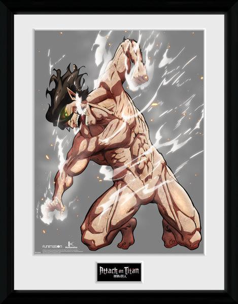 Attack On Titan Season 2 - Eren Titan Framed poster