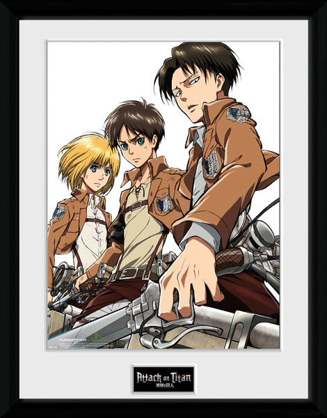 Attack On Titan - Trio Framed poster