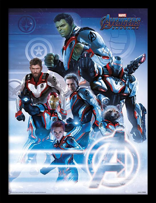 Marvel Avengers Endgame Superheroes Signatures Portrait Paper Poster No Frame