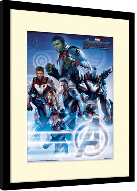 Framed poster Avengers: Endgame - Quantum Realm Suits