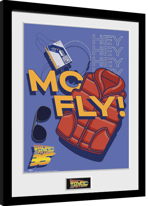Framed poster Back To The Future - 35th McFly