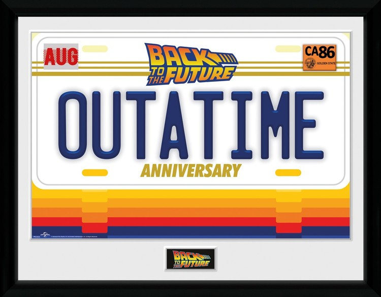 Framed poster Back To The Future - 35th Outatime
