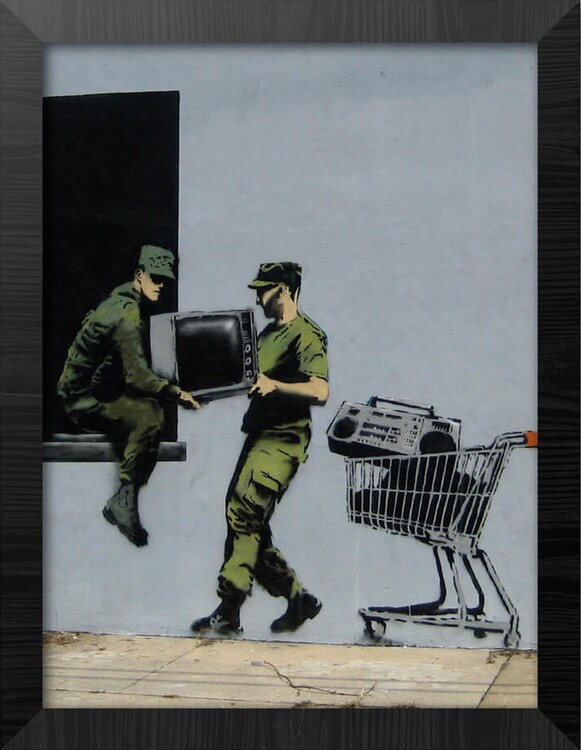 Framed poster Banksy - Looters Masters