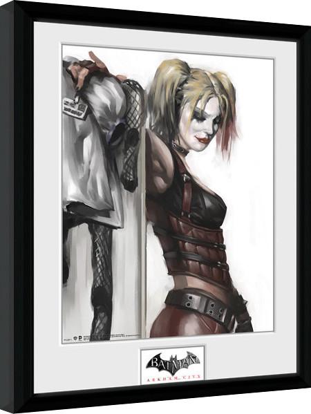 Framed poster Batman: Arkham City - Harley Quinn