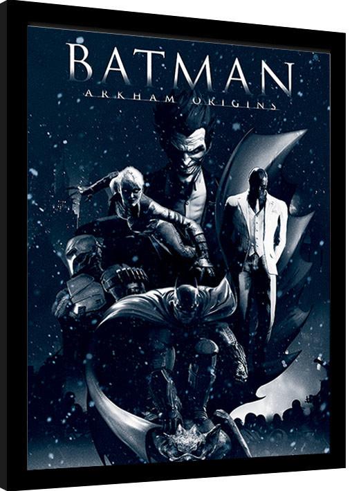 Framed poster Batman: Arkham Origins - Montage
