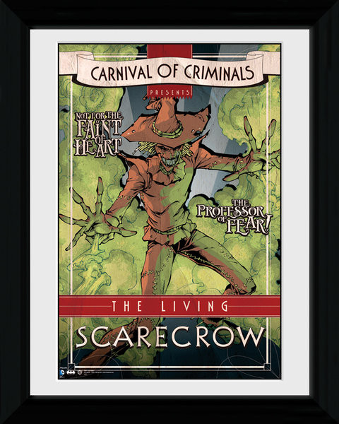 Batman Comic - Circus Scarecrow Framed poster