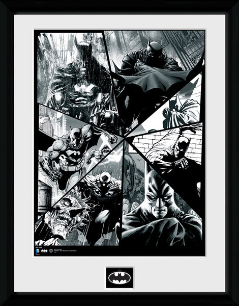 Framed poster Batman Comic - Collage