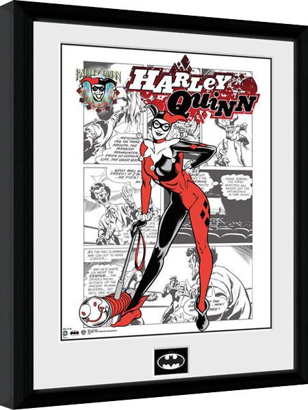Batman Comic - Harley Quinn Comic Framed poster   Buy at Europosters