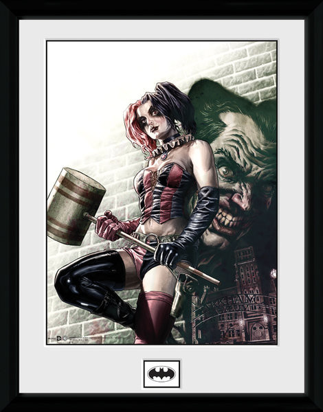 Batman Comic - Harley Quinn Hammer Framed poster