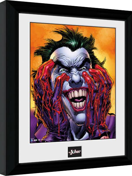 Framed poster Batman Comic - Joker Laugh