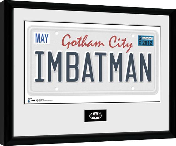 Batman Comic - License Plate Framed poster