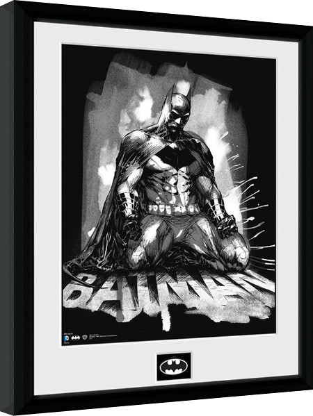 Batman Comic - Paint Framed poster