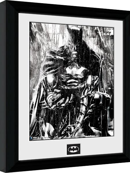 Framed poster Batman Comic - Rain