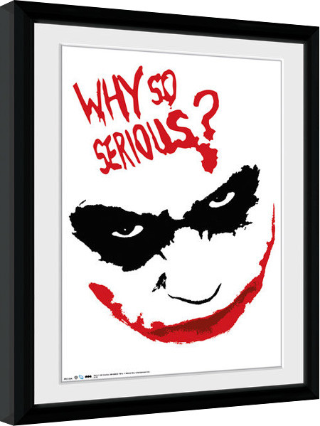 Batman The Dark Knight - Smile Framed poster