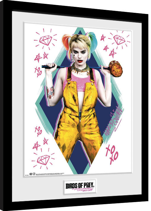 Framed poster Birds Of Prey: And the Fantabulous Emancipation Of One Harley Quinn - Harley Quinn