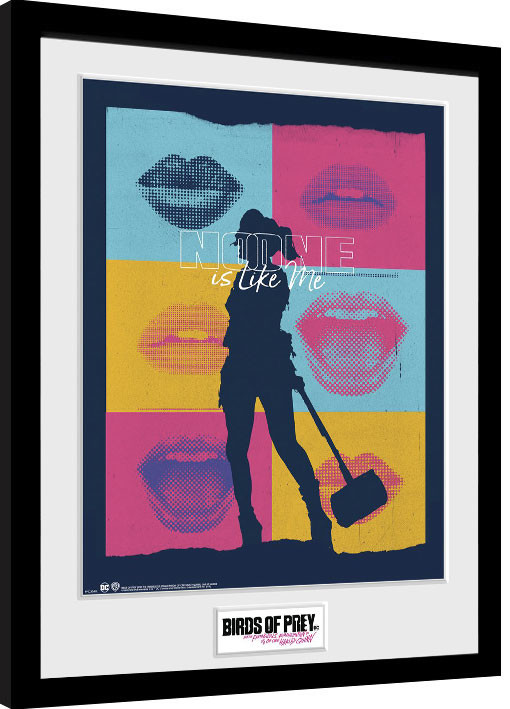 Framed poster Birds Of Prey: And the Fantabulous Emancipation Of One Harley Quinn - Harley Red