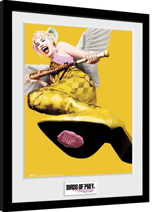 Framed poster Birds Of Prey: And the Fantabulous Emancipation Of One Harley Quinn - One Sheet Wings