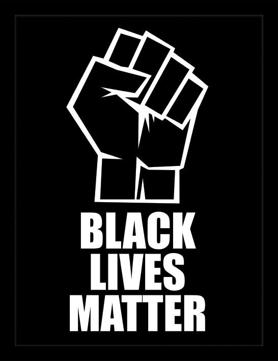 Framed poster Black Lives Matter - Fist