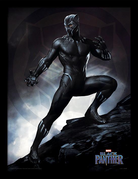 Framed poster Black Panther - Stance