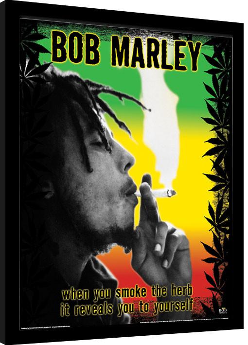 Framed poster Bob Marley - Herb