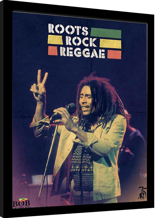 Bob Marley - Roots Rock Reggae Framed poster