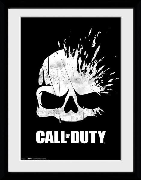 Call Of Duty - Logo Skull Framed poster