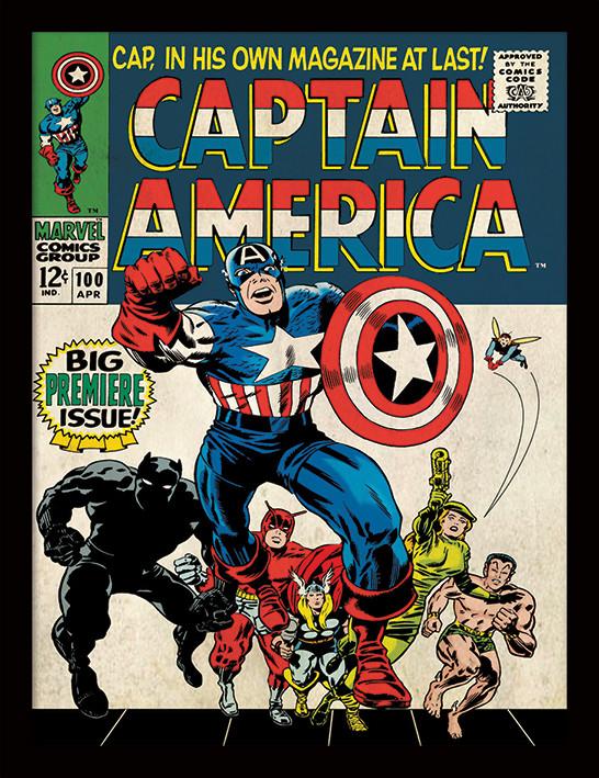 Framed poster Captain America - Premiere