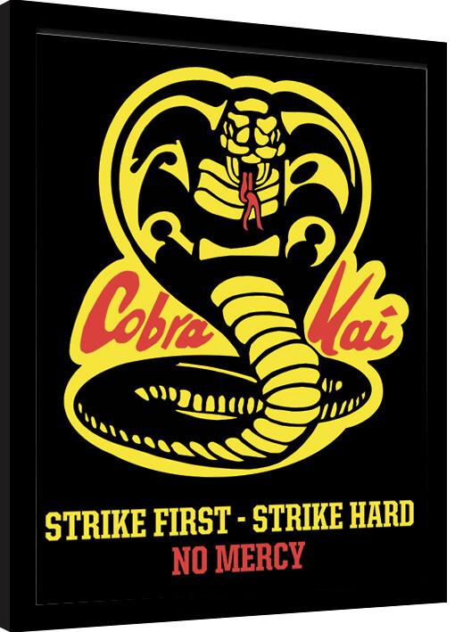 Framed poster Cobra Kai - No Mercy