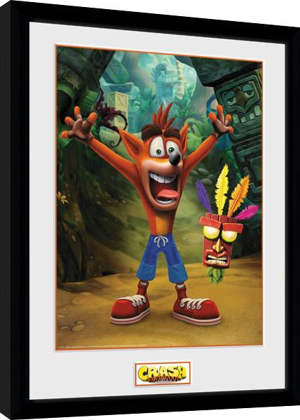 crash bandicoot aku aku framed poster buy at abposters com