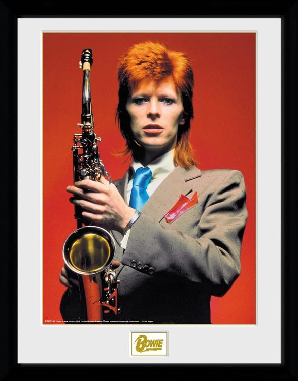 Framed poster David Bowie - Saxophone