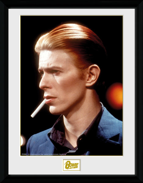 Framed poster David Bowie - Smoke