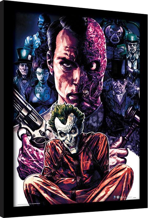 Framed poster DC Comics - Criminally Insane
