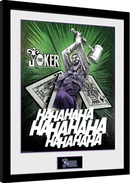 Framed poster DC Comics - Joker Cards