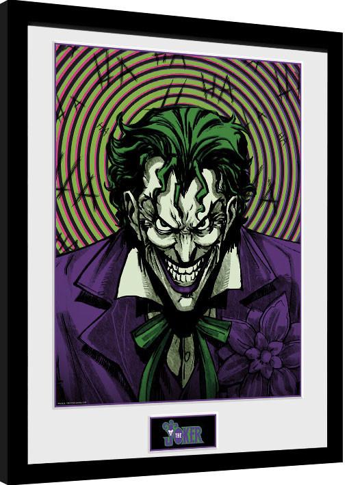 Framed poster DC Comics - Joker Insane