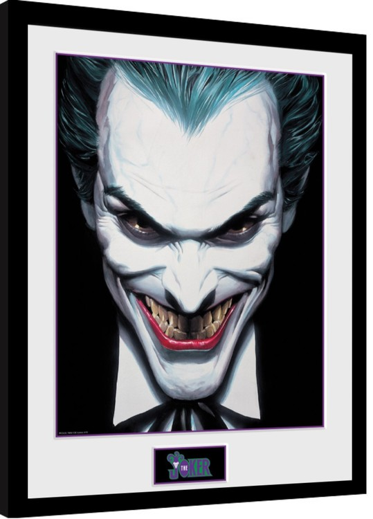 Framed poster DC Comics - Joker Ross